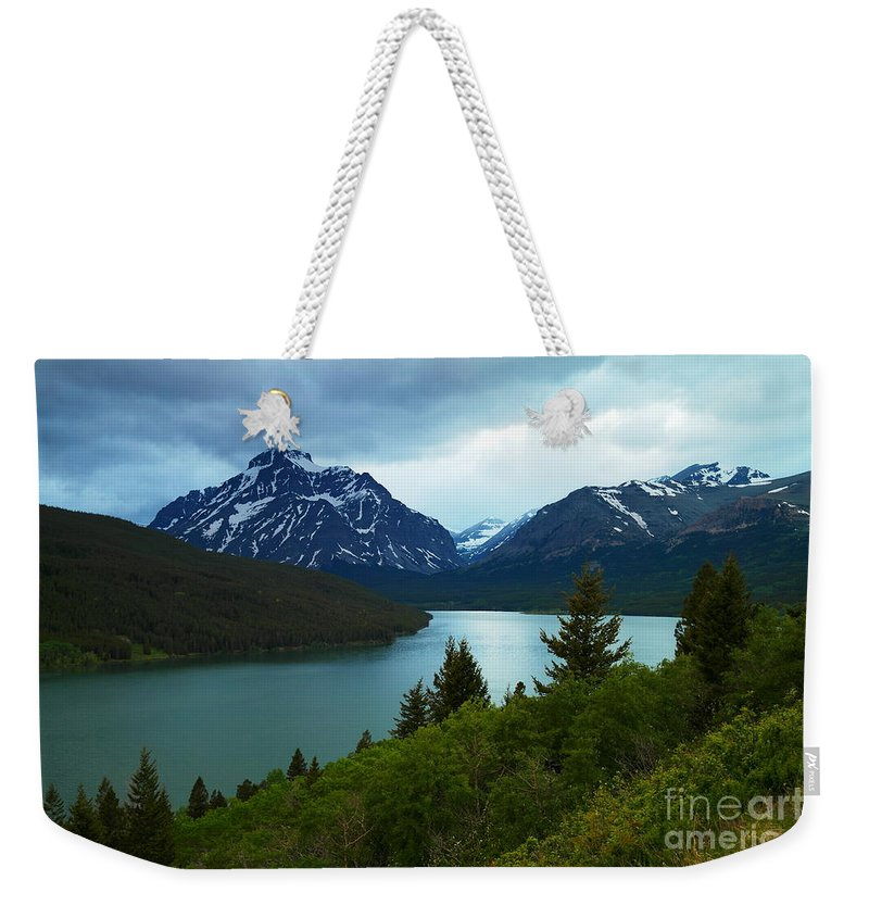 Montana Weekender Tote Bag featuring the photograph East Glacier by Jeff Swan