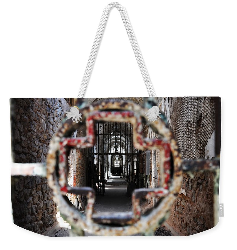 Eastern State Penitentiary - Medical Ward Weekender Tote Bag featuring the photograph Eastern State Penitentiary - Medical Ward by Bill Cannon