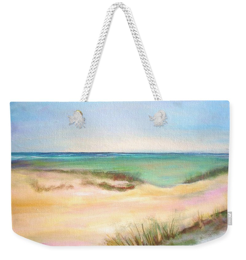 Seascape Weekender Tote Bag featuring the painting Easy Breezy by Patricia Piffath