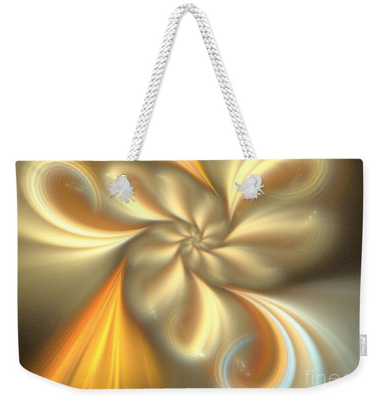 Apophysis Weekender Tote Bag featuring the digital art Ecru by Kim Sy Ok