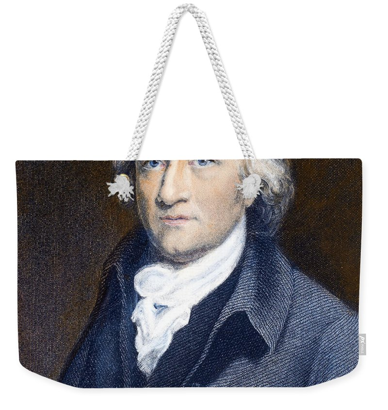 18th Century Weekender Tote Bag featuring the photograph Edmund Cartwright by Granger