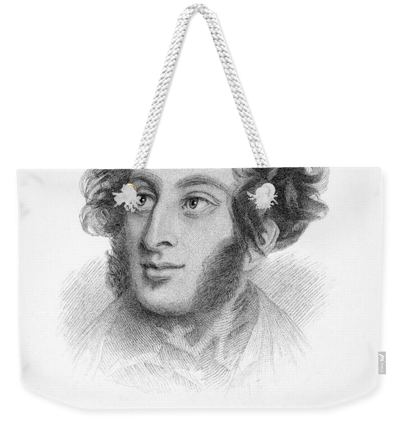19th Century Weekender Tote Bag featuring the photograph Edward Bulwer Lytton by Granger