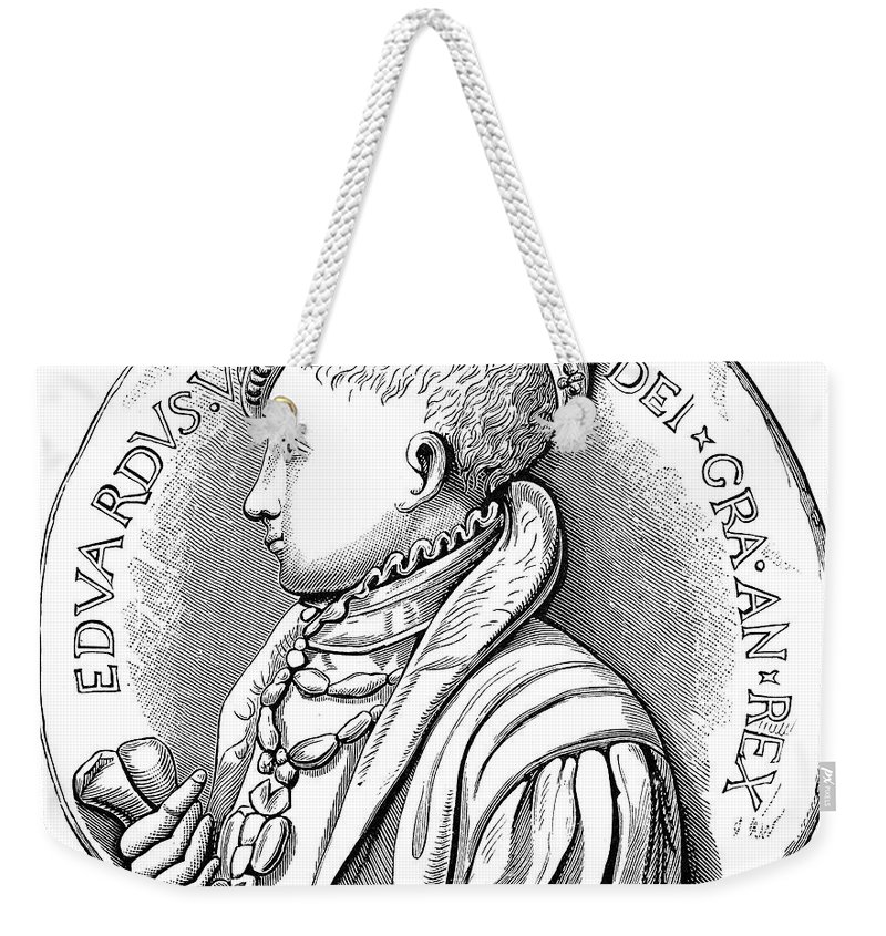 16th Century Weekender Tote Bag featuring the photograph Edward Vi (1537-1553) by Granger