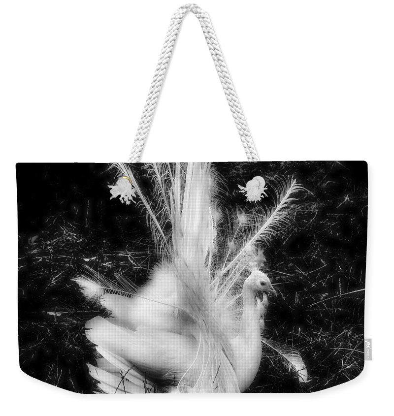 Peacock Weekender Tote Bag featuring the photograph Effervescence II by Rory Sagner