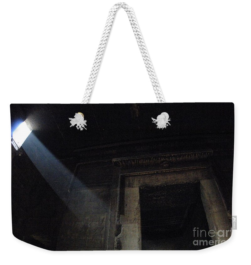 Interior Chamber Dendera Egypt Weekender Tote Bag featuring the photograph Egypt Interior Chamber Dendera by Bob Christopher