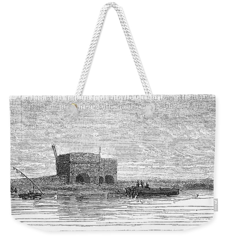 1869 Weekender Tote Bag featuring the photograph Egypt: Plateau Des Hy�nes by Granger