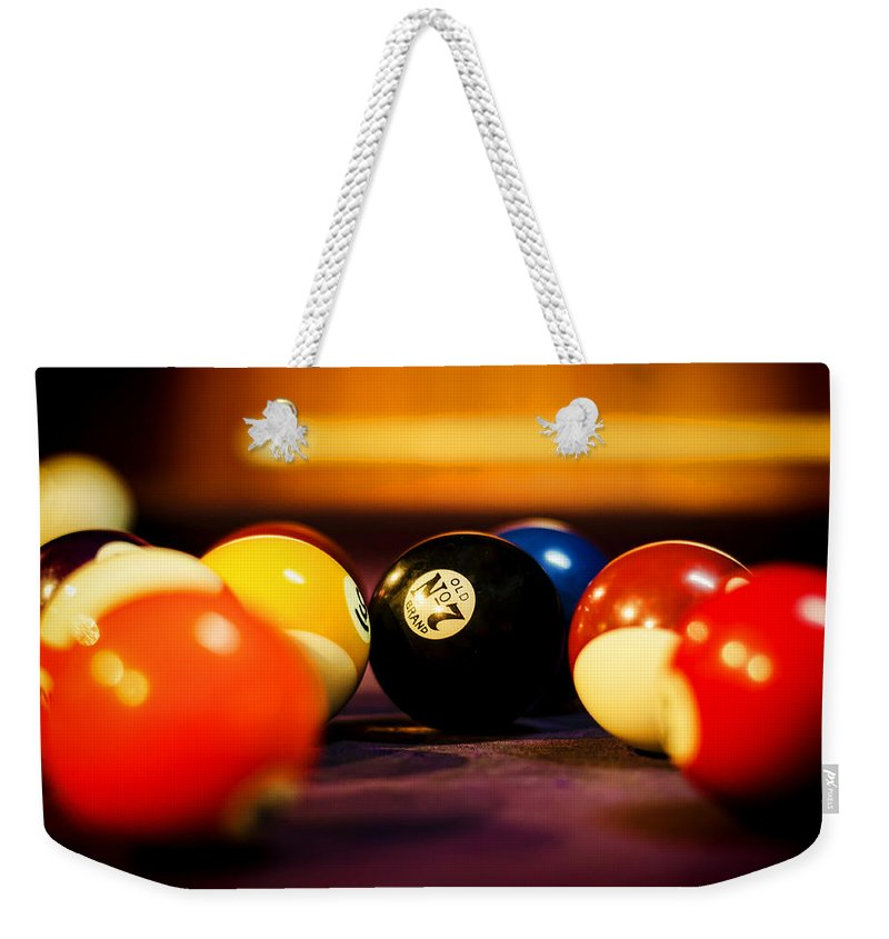 8 Ball Weekender Tote Bag featuring the photograph Eight Ball by Heather Applegate