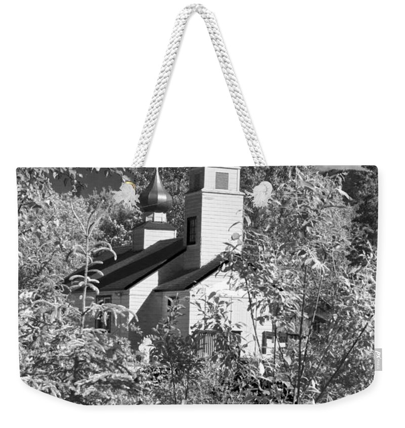 Eklutna Church Weekender Tote Bag featuring the photograph Eklutna Church by Wes and Dotty Weber