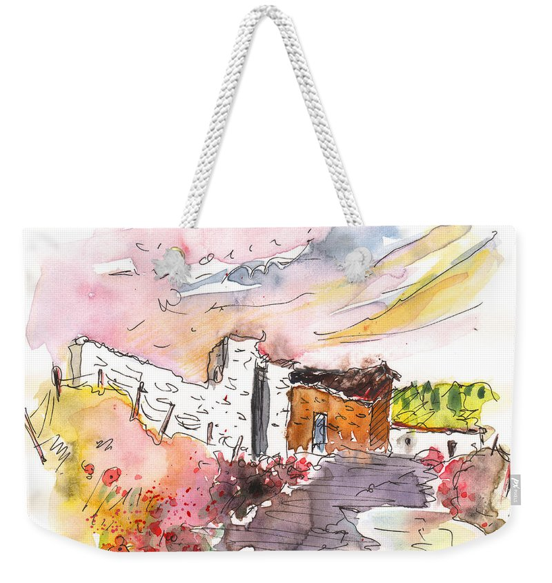Travel Weekender Tote Bag featuring the painting El Alcornocal 05 by Miki De Goodaboom