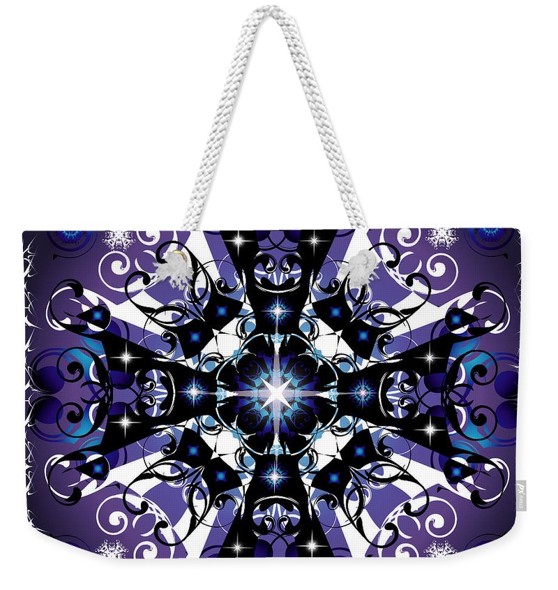 Abstract Weekender Tote Bag featuring the digital art Elan 1 by George Pasini