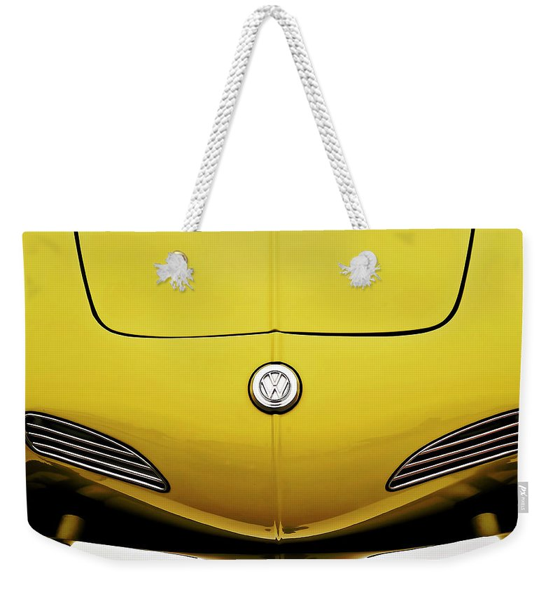 Volkswagen Weekender Tote Bag featuring the digital art Electric Karmann by Douglas Pittman