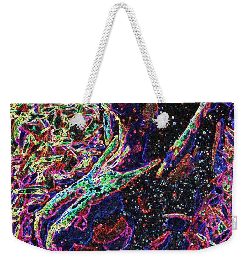 Surreal Paintings Weekender Tote Bag featuring the digital art Electric Lady by Mayhem Mediums