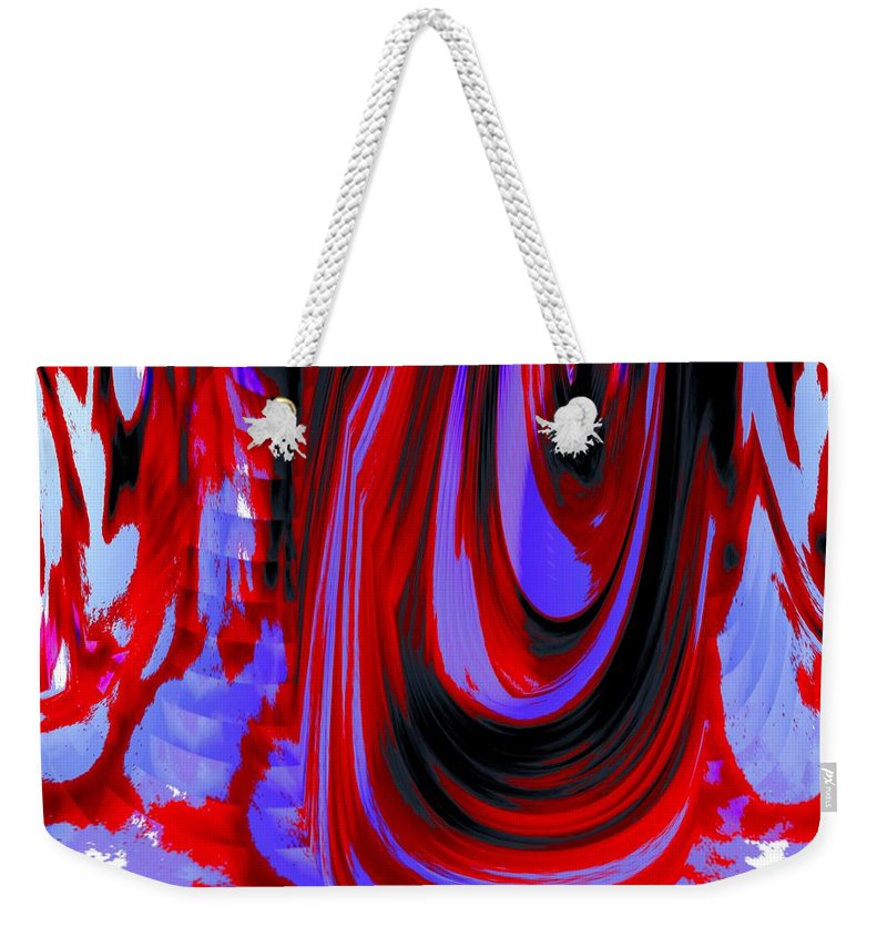 Abstract Weekender Tote Bag featuring the photograph Electric Underground by Renate Nadi Wesley