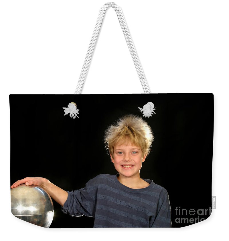 Electrostatic Weekender Tote Bag featuring the photograph Electrostatic Generator by Ted Kinsman