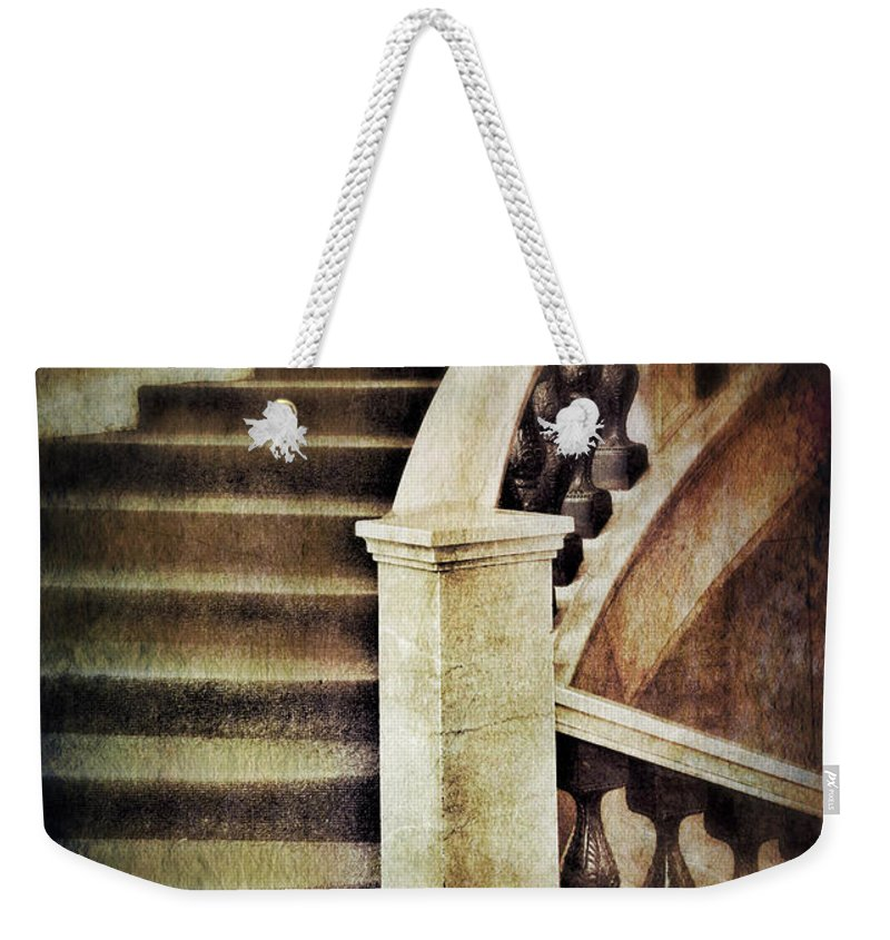 Stairs Weekender Tote Bag featuring the photograph Elegant Staircase by Jill Battaglia