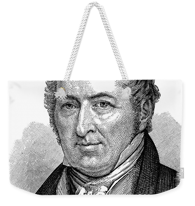 18th Century Weekender Tote Bag featuring the photograph Eli Whitney (1765-1825) by Granger