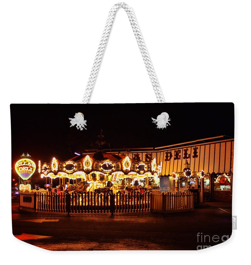 Madison Weekender Tote Bag featuring the photograph Elia's Deli by Tommy Anderson