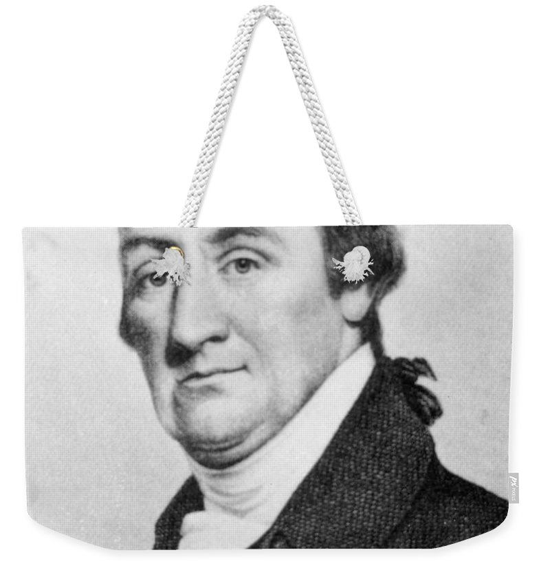 18th Century Weekender Tote Bag featuring the photograph Elias Hasket Derby (1739-1799). American Merchant And Shipowner. Steel Engraving, 19th Century by Granger