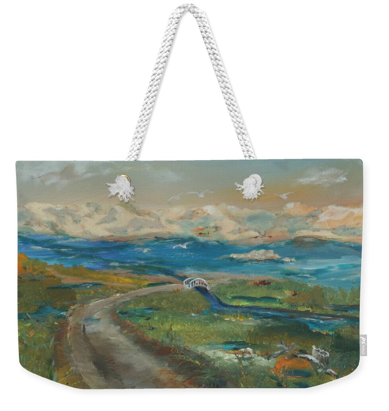 Elkhorn Slough Weekender Tote Bag featuring the painting Elkhorn Slough by Gail Daley