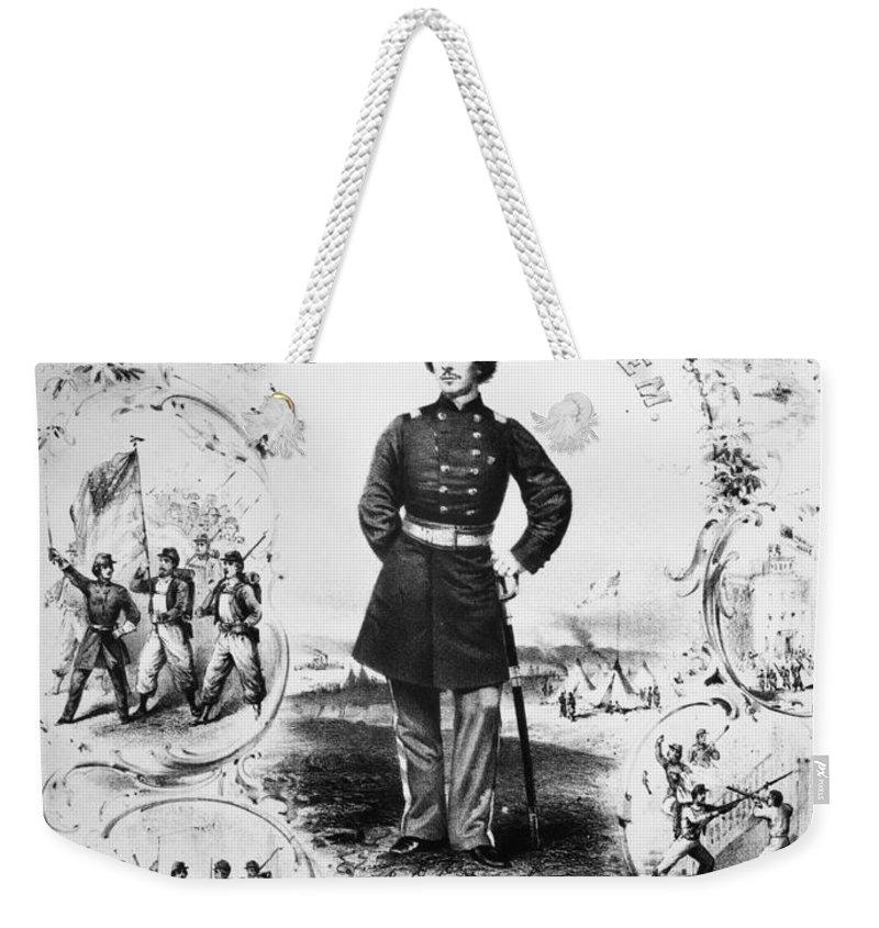 1861 Weekender Tote Bag featuring the photograph Elmer Ephraim Ellsworth by Granger