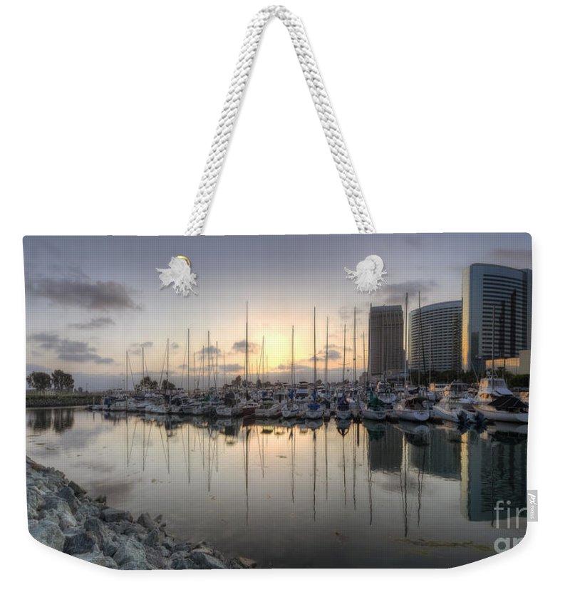 Art Weekender Tote Bag featuring the photograph Embarcadero Marina  by Yhun Suarez