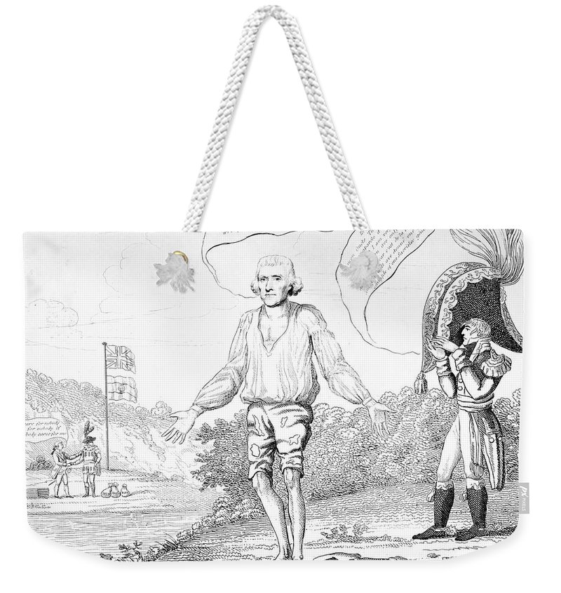 1809 Weekender Tote Bag featuring the photograph Embargo Repeal, 1809 by Granger