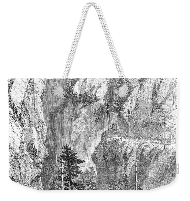 1865 Weekender Tote Bag featuring the photograph Emigrants To The West, 1865 by Granger