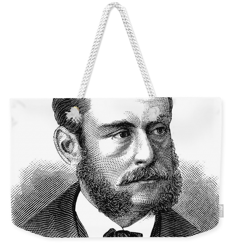 1873 Weekender Tote Bag featuring the photograph Emil Schumann by Granger