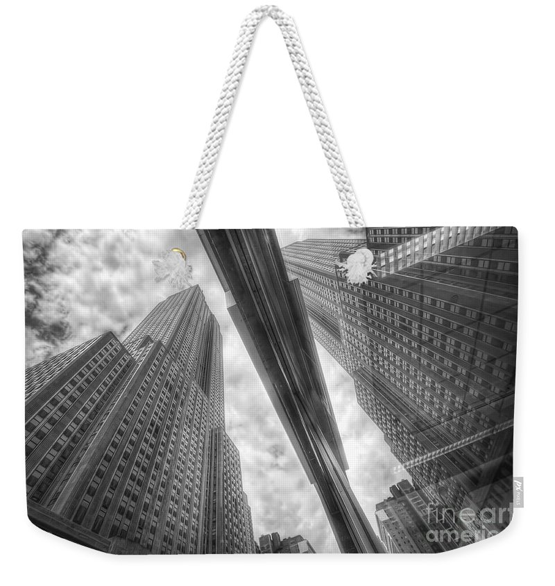 Art Weekender Tote Bag featuring the photograph Empire State Reflection by Yhun Suarez