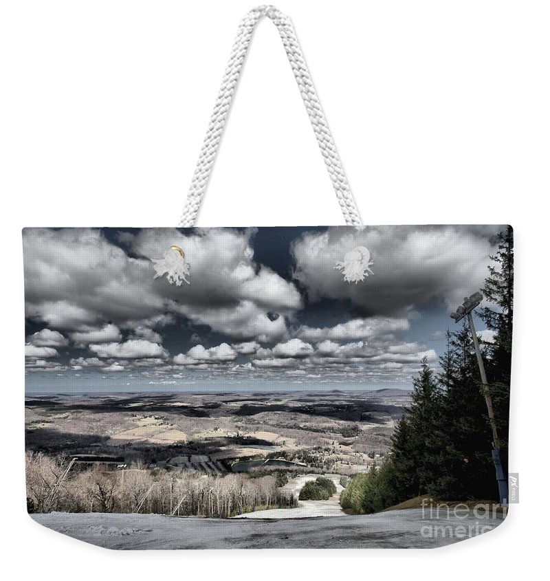 Spring Skiing Weekender Tote Bag featuring the photograph End Of The Season by Adam Jewell