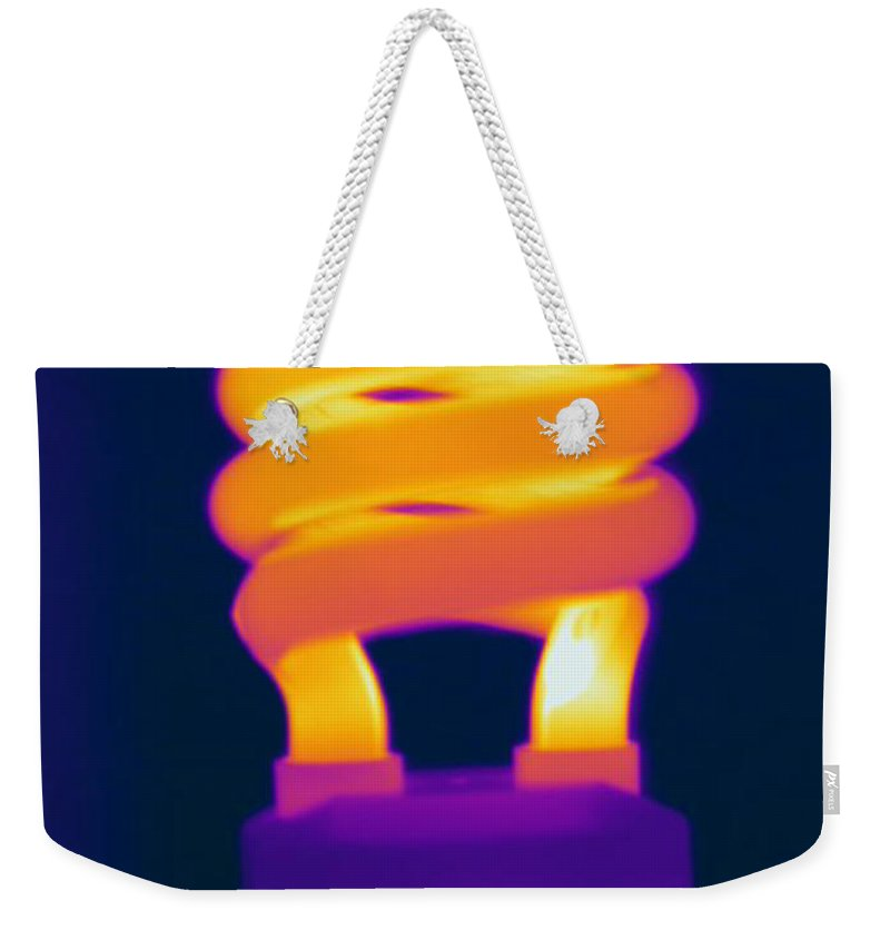 Thermogram Weekender Tote Bag featuring the photograph Energy Efficient Fluorescent Light by Ted Kinsman