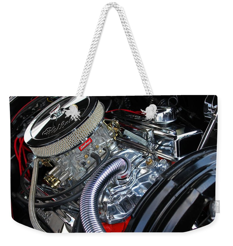 Car Weekender Tote Bag featuring the photograph Engine 632 by Carolyn Stagger Cokley