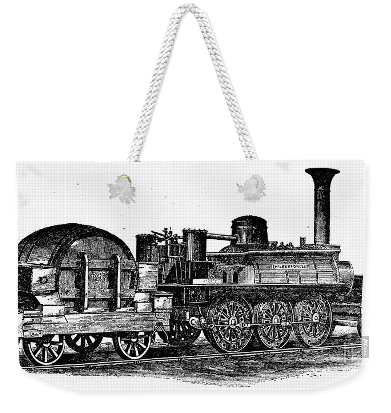 1832 Weekender Tote Bag featuring the photograph England: Locomotive, C1831 by Granger