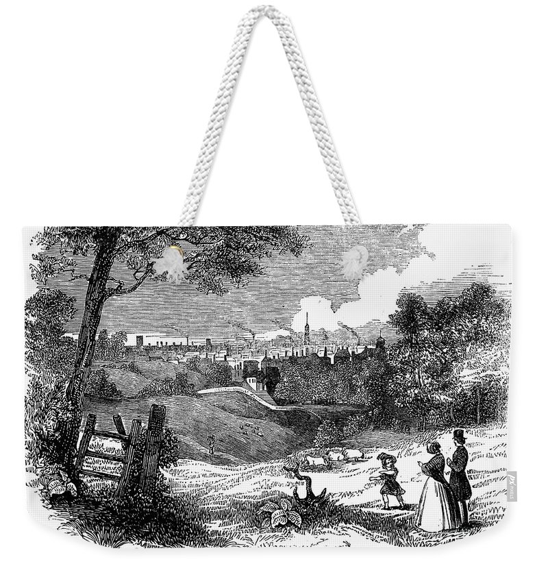 1842 Weekender Tote Bag featuring the photograph England: Manchester, 1842 by Granger
