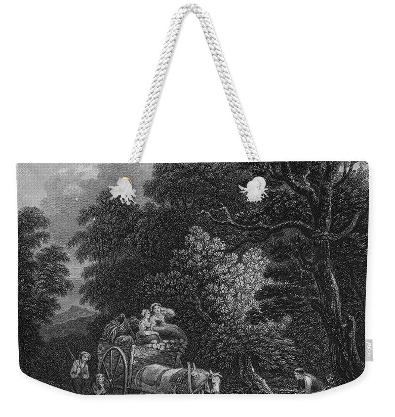 18th Century Weekender Tote Bag featuring the photograph England: Market Cart by Granger