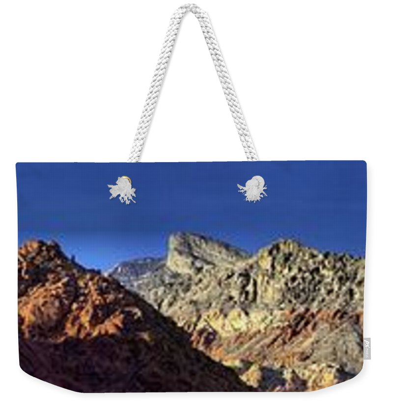 Panorama Weekender Tote Bag featuring the photograph Enjoying Red Rock Canyon by Anthony Walker Sr