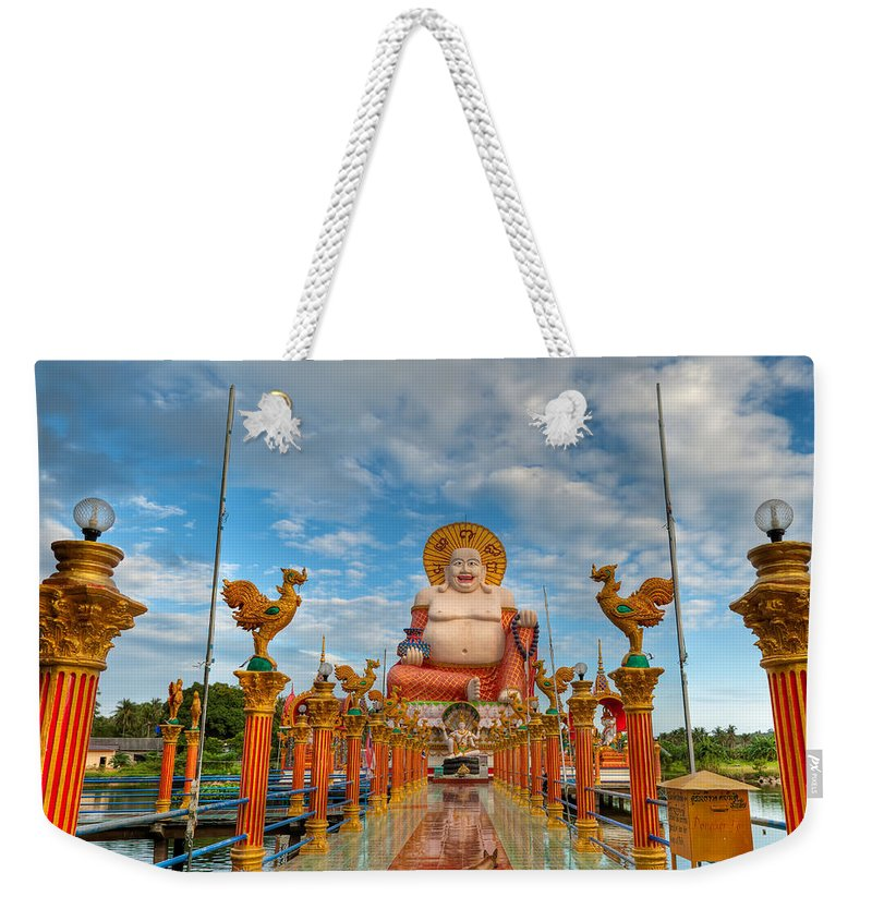 Architecture Weekender Tote Bag featuring the photograph Entrance To Buddha by Adrian Evans