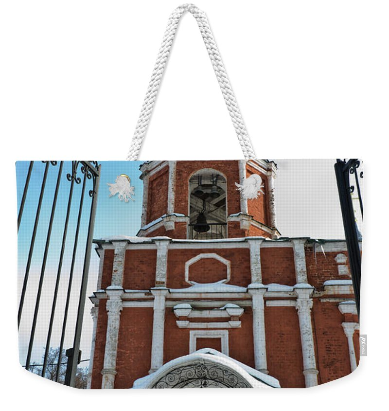 Ancient Weekender Tote Bag featuring the photograph Entrance To The Church by Michael Goyberg