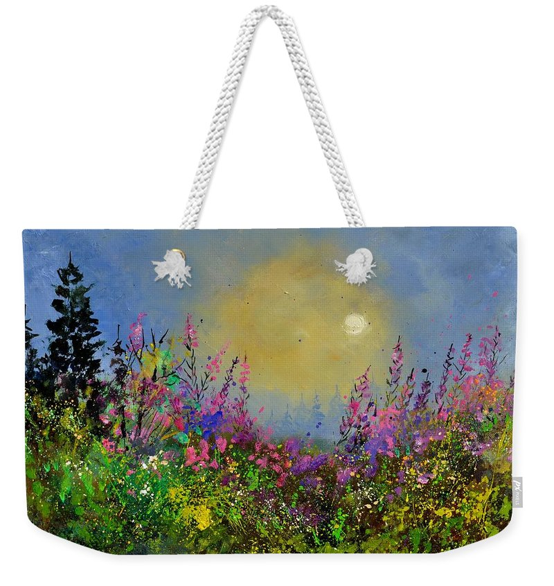 Flowers Weekender Tote Bag featuring the painting Epilobes by Pol Ledent