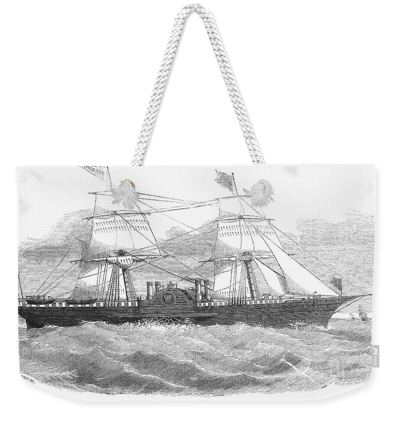 1853 Weekender Tote Bag featuring the photograph Ericssons Caloric Engine by Granger