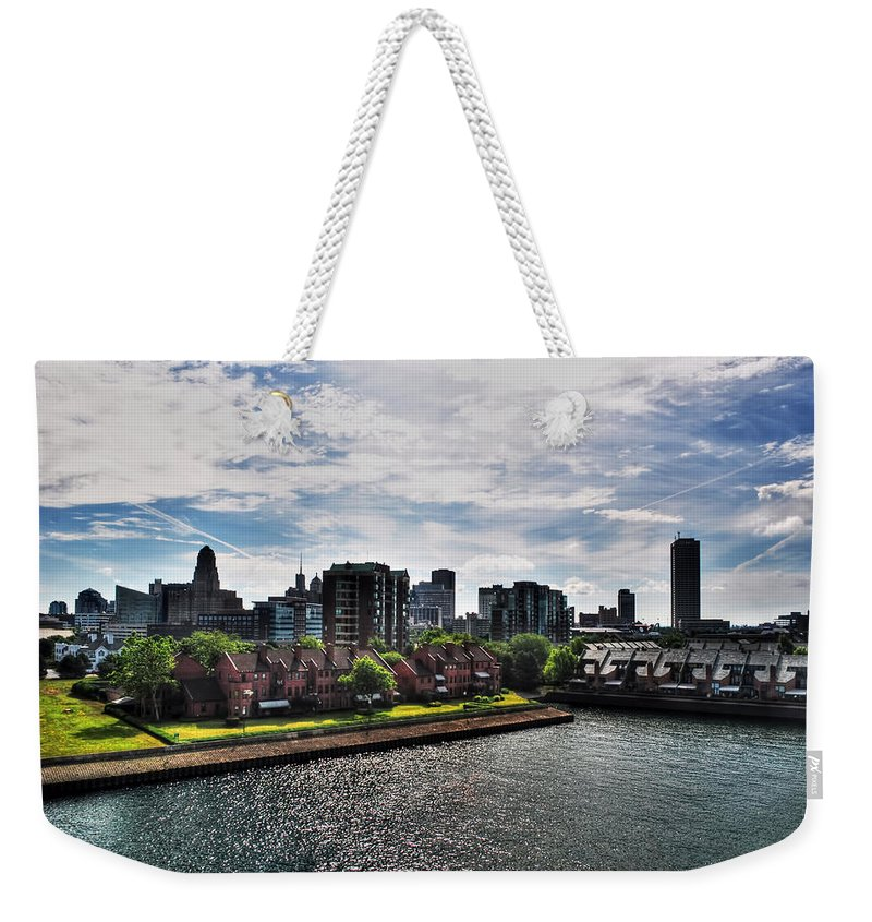 Weekender Tote Bag featuring the photograph Erie Basin Marina Summer Series 0002 by Michael Frank Jr