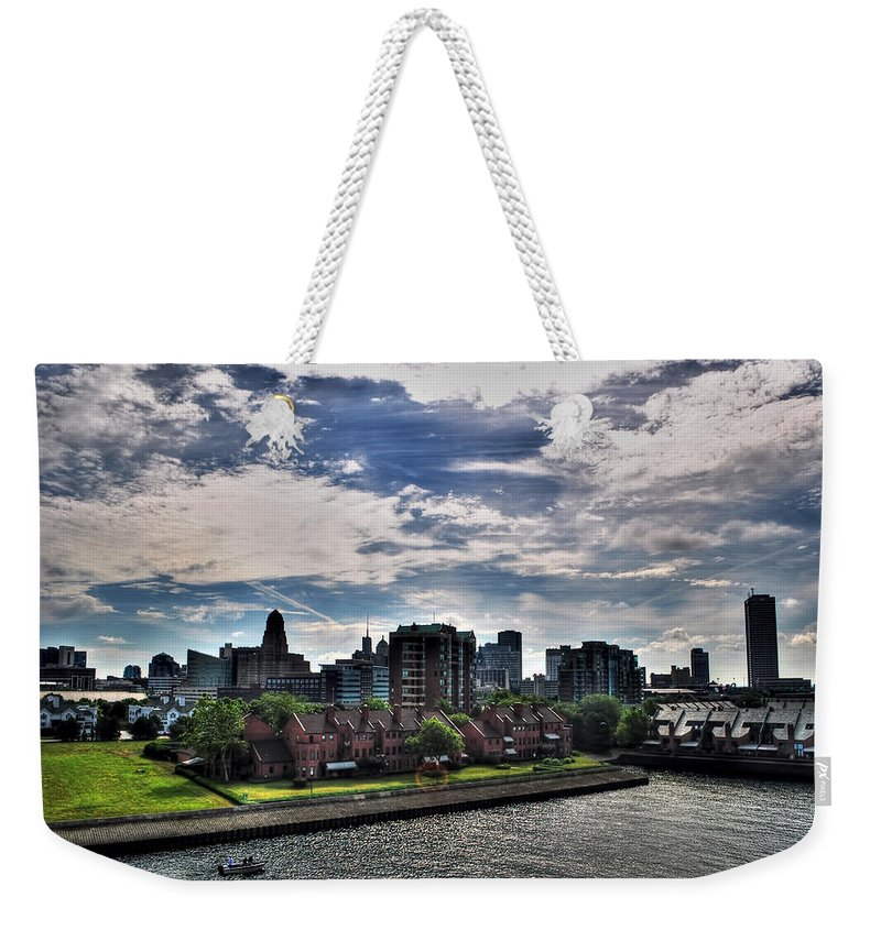 Weekender Tote Bag featuring the photograph Erie Basin Marina Summer Series 0005 by Michael Frank Jr