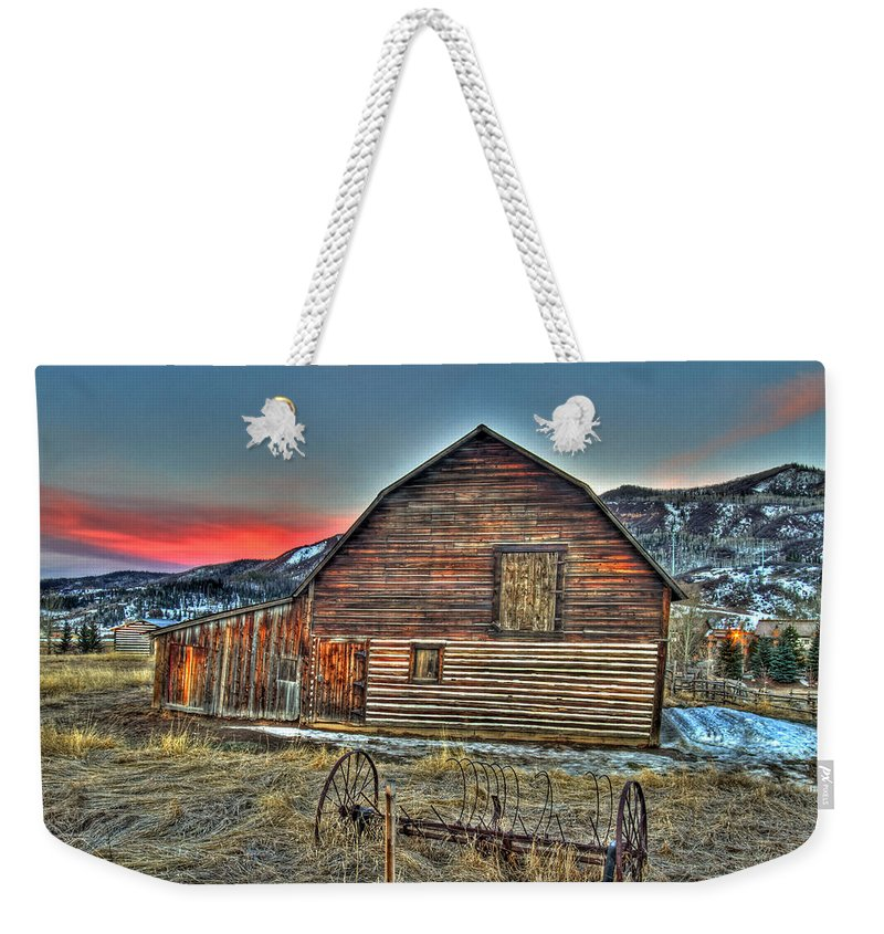 Colorado Weekender Tote Bag featuring the photograph Escape by Scott Mahon