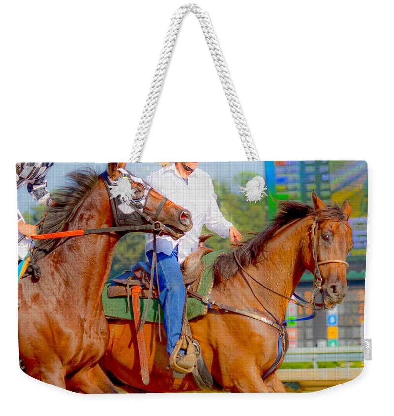 Post Weekender Tote Bag featuring the photograph Escort by Betsy Knapp