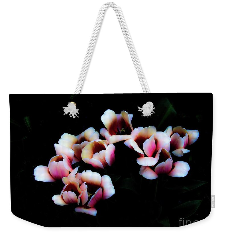 Tulip Weekender Tote Bag featuring the photograph Ethereal Tulips 2 by Frances Hattier