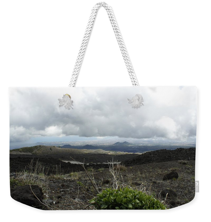 Weekender Tote Bag featuring the photograph Etna's Landscape by Donato Iannuzzi