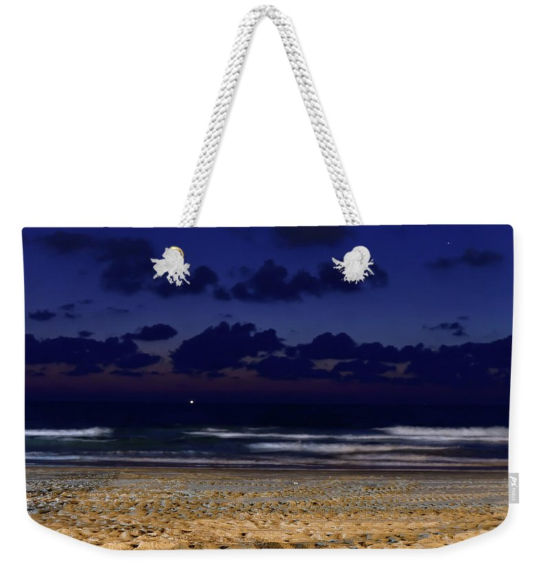 Clouds Weekender Tote Bag featuring the photograph Evening On The Beach by Michael Goyberg