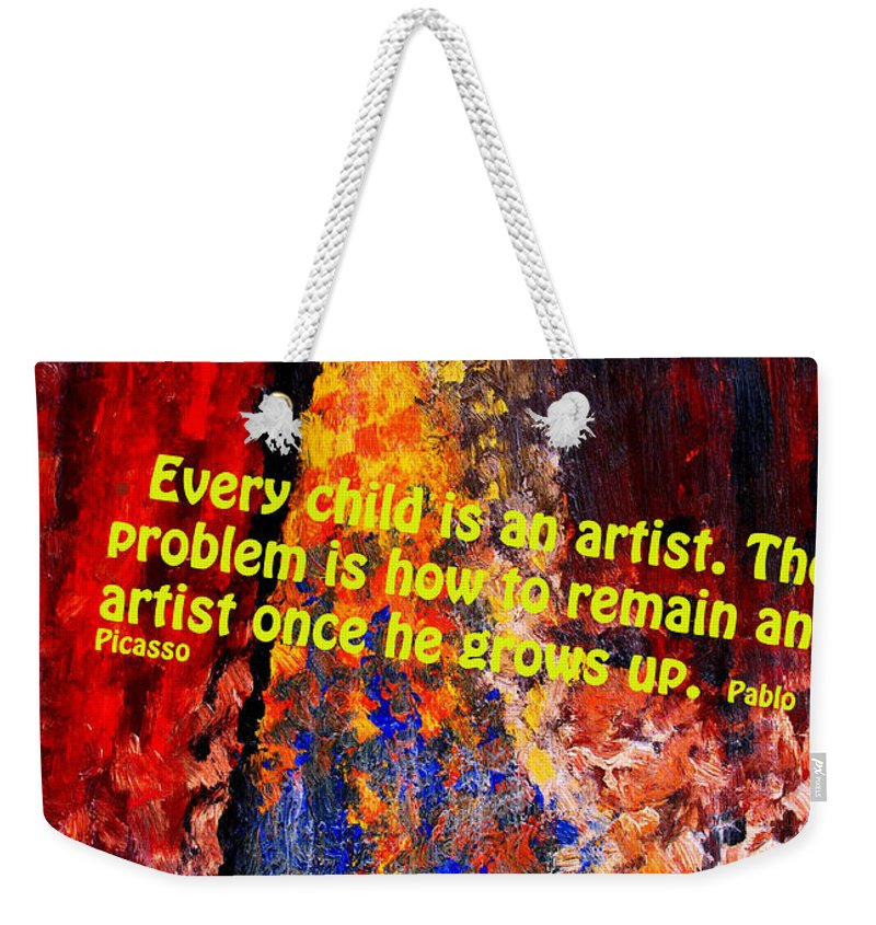 Abstract Weekender Tote Bag featuring the photograph Every Child by Ian MacDonald