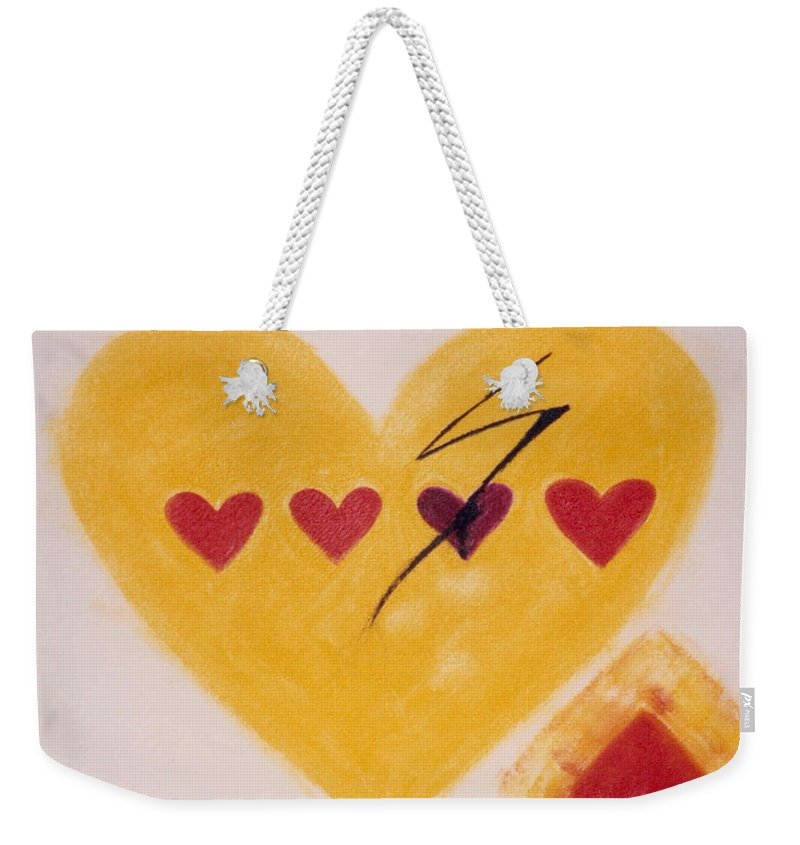 Art Weekender Tote Bag featuring the painting Every Third Heart Gets Broken by Karen Francis