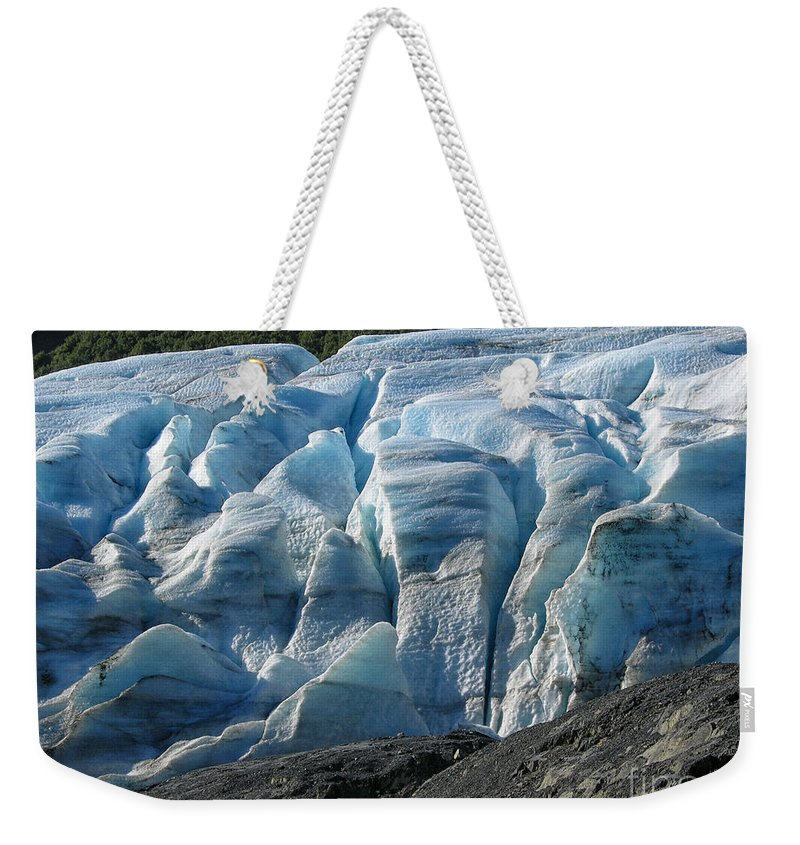 Alaska Weekender Tote Bag featuring the photograph Exit Glacier Viewpoint by Sandra Bronstein